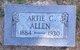 Profile photo:  Artie Clarence Allen