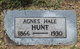 Profile photo:  Agnes D. <I>Hale</I> Hunt
