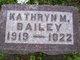 Kathryn M Bailey