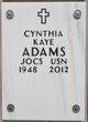 Profile photo:  Cynthia Kaye Adams