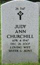 Judy Ann <I>Weippert</I> Churchill