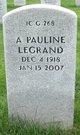 Profile photo:  A. Pauline <I>Pepin</I> LeGrand