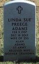 Linda Sue <I>Preece</I> Adams