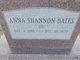 "Profile photo:  Anna Lively ""Sis"" <I>Shannon</I> Bates"