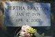 Profile photo:  Bertha Braxton