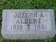 Profile photo:  Joseph A. Albert