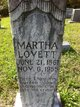 Martha <I>Stanfill</I> Lovett