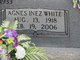 Profile photo:  Agnes Inez <I>White</I> Dewberry