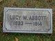 Lucy <I>Wyatt</I> Abbott