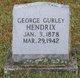 Profile photo:  George Gurley Hendrix