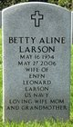Betty Aline Larson