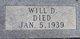 """Profile photo:  William D. """"Will"""" Hill"""