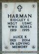 Ridgley Eugene Harman