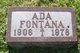 Profile photo:  Ada <I>Orella</I> Fontana