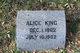 Profile photo:  Alice <I>King</I> Barwise