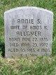 Profile photo:  Annie S. <I>Umble</I> Allgyer