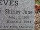Shirley June <I>Cox</I> Reeves