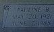 "Eva Pauline ""Polly"" <I>Beam</I> Dayberry"