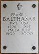 Frank L Balthasar