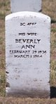 Profile photo:  Beverly Ann Capitola