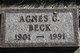 Agnes Cornelia Beck
