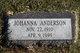 Johanna <I>Dyrud</I> Anderson
