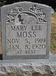 Mary Lee Moss