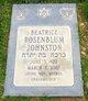 Profile photo:  Beatrice <I>Rosenblum</I> Johnston