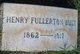 Henry Fullerton Buist