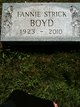 Fannie <I>Strick</I> Boyd