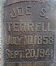 "Profile photo:  Joseph Sinclair ""Joe"" Terrell"