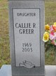 Callie Renia <I>Hightower</I> Greer
