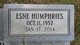 Esne <I>Humphries</I> Butler