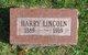 Profile photo:  Harry Lincoln