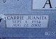 Profile photo:  Carrie Juanita <I>Young</I> Adams