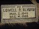 "Profile photo:  Lowell Robert ""Bob"" Alvord"