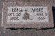 Profile photo:  Lena M. <I>Horn</I> Akers
