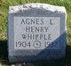 Profile photo:  Agnes Whipple