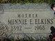 Profile photo:  Minnie E. <I>Carmichael</I> Elkins