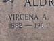 Profile photo:  Virginia Anabelle <I>Pease</I> Aldridge