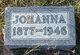 Johanna Katherine <I>Tackenberg</I> Hahn