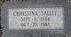 Christina <I>Lehl</I> Sallee