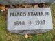 Francis Joseph Bauer Jr.