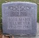 Profile photo:  Rose Marie <I>Rouster</I> Billmeyer