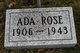 Profile photo:  Ada <I>White</I> Rose