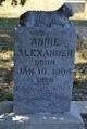 Profile photo:  Annie Alexander