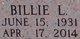 Billie L <I>McDonald</I> Brewer