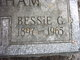 Profile photo:  Bessie G <I>Benham</I> Benham