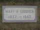 Mary Ann <I>Spillings</I> Goodrich