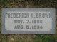 Frederick L Brown
